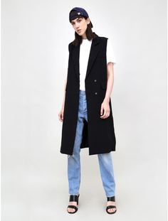 Long Collared Vest