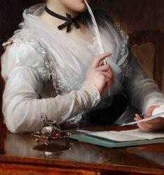 """""""The Love Letter"""" (detail) by Sir Samuel Luke Fildes"""