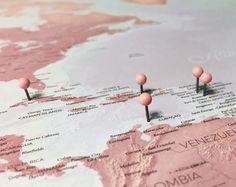 Blush World Map    Pin Map   from MapRepublic