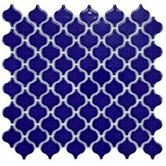 Merola Tile - Lantern in. Blue Porcelain Mesh-Mounted Mosaic Tile - This tile incorporates distinctive lantern-shaped tiles to provide a touch of elegant, old-world style for your indoor or outdoor walls. Mosaic Tile Sheets, Mosaic Wall Tiles, Mosaics, Outdoor Porcelain Tile, Porcelain Floor, Porcelain Ceramics, Lantern Tile, Blue Lantern, Small Lanterns