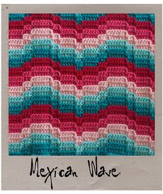 Ravelry: Not Your Nana's Needlework - Bargello Crochet pattern by Laura Pavy...Not a free pattern but the texture looks awesome!
