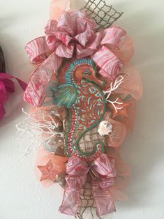 Excited to share this item from my #etsy shop: Seahorse Swag-Beach Theme Wreath-Seahorse Wreath-Seahorse Decor-Coral Sea Shell Wreath-Ocean Themed Wreath- Ocean Vacation Gifts-Swag #seahorse #beach #swag #wreath #beachhouse #sea #ocean #beachdecor #coral #etsyshop #gifts #homedecor #pool #poolhouse