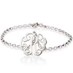 Silver Monogram Bracelet