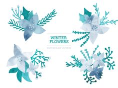 Free Vector Winter Elements  is a free template, watercolor set of winter elements in both AI and EPS format. Hope you enjoy them!