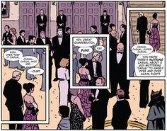 Hawkeye #2 (2012). Matt Fraction, writer; David Aja, artist; Matt Hollingsworth, colorist.