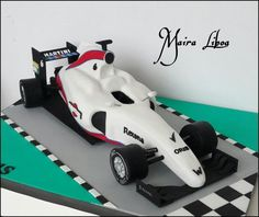 Formula 1 Williams Martini - Cake by Maira Liboa 8th Birthday Cake, Race Car Birthday, Race Car Party, Cars Birthday Parties, Race Cars, Birthday Ideas, Martini Cake, Race Car Cakes, Bebe Shower