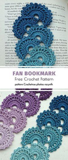 Fan Bookmark Free Crochet Pattern Diy Projects For The Home bookmark Crochet Fan Free Pattern Marque-pages Au Crochet, Crochet Hot Pads, Quick Crochet, Crochet Books, Crochet Gifts, Free Crochet, Crochet Collar, Easy Crochet Bookmarks, Knitting Patterns