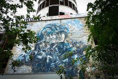 alaniz - urban art galerie  abhrstation auf dem teufelsberg berlin  urbanpresents  streetart urbex graffiti