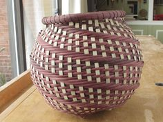 Round hand woven basket by TudorWoodworks on Etsy, $90.00