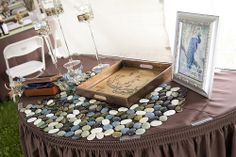 Guest write on a rock to put in your garden instead I a guest book :) too cool and useful!