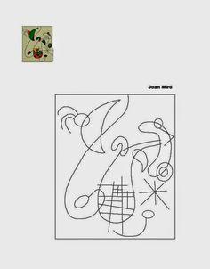 Pintores famosos: Miró para niños. Cuadros para colorear, cuentos, puzzles, imitación de obras, ideas para carnaval... Joan Miro Paintings, Montessori Art, Sculpture Lessons, Art Base, First Art, Art Classroom, Colouring Pages, Geometric Art, Op Art