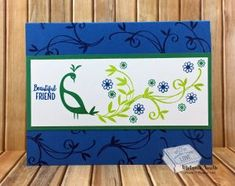 Stampin' Up! ® Sale A Bration ~ Don't Miss Out! SAB Free Stamp Set Melaniestamps.com Peacock SU Card