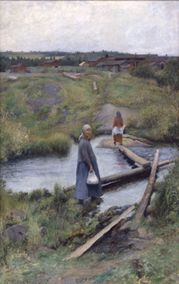 Oijustie (The Short Cut), 1892 by Pekka Halonen on Curiator, the world's biggest collaborative art collection. Scandinavian Paintings, Scandinavian Art, Digital Museum, Chur, Collaborative Art, Nature Paintings, Romanticism Paintings, Glasgow, Les Oeuvres