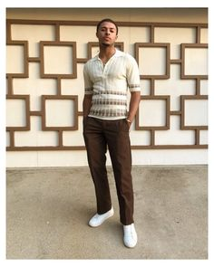 1960s Fashion Mens, Retro Fashion, 70s Black Fashion, Fashion Edgy, Urban Fashion, Estilo Retro, Diggy Simmons, 70s Outfits, Casual Outfits
