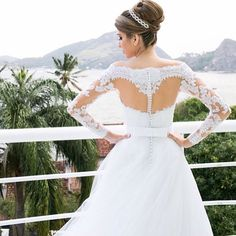 Stunning bridal gown and hair inspiration. Dress by Marie Lafayette. | My Sweet Engagement