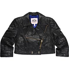 Juicy Couture Kids Leather Biker Jacket (Toddler/Little Kids/Big Kids) obviously i would never spend this on a child's jacket.. but omg it is precious