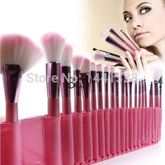 22pcs Superior Professional Soft Cosmetic Makeup Lip Eyeshadow Eyelining Fan Powder Brush Set Pink + Pouch Bag Case 1SET=22PCS,High Quality case per hard disk sata,China case for samsung galaxy i9100 Suppliers, Cheap bag needle from Super Wal-Mart on Aliexpress.com