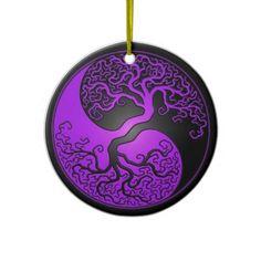 Yin Yang Baum Ornament