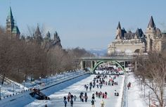 Skating on the Rideau Canal in Ottawa, Ontario, Canada is a favourite winter pastime! Best Places To Travel, Great Places, Places Ive Been, Beautiful Places, Places To Visit, Ottawa Canada, O Canada, Ottawa Ontario, Travel Report