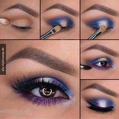Farbenfrohes Augen Make-up
