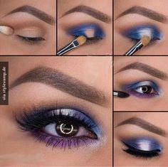 Farbenfrohes Augen Make-up