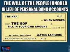 blank checks from the NRA