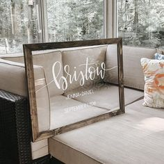 Acrylic Last Name Sign - with Wooden Frame (optional) – Adorning Oaks Source by katie_m_butler Frames