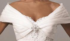 White Organza Pleat Shawl Off the Shoulder Shirred Bridal Wedding Bolero on Etsy, $58.00