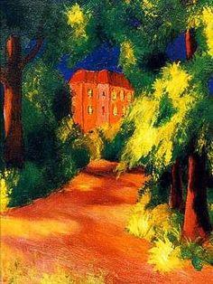 La maison rouge, par Auguste Macke