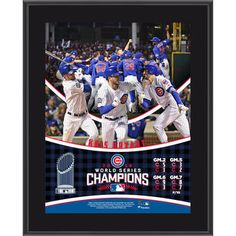 "Chicago Cubs Kris Bryant Fanatics Authentic 2016 MLB World Series Champions 10.5"" x 13"" Sublimated Plaque"