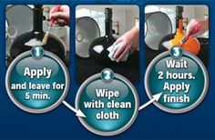 To paint over ANY surface, without sanding, use a product called ESP (Easy Surface Prep). Wipe it on, wipe it off after 5 minutes, then paint in 2 hours. Saves HOURS of work. General Crafts, Enamel Paint, Prepping, How To Apply, Surface, Cleaning, Easy, Home Cleaning, Prep Life
