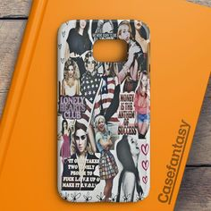 Lana Del Rey And Lady Gaga American Flag Samsung Galaxy S7 Edge Case | casefantasy