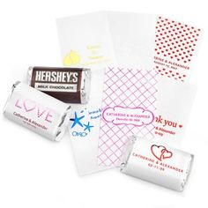 Personalized Metallic Mini Chocolate Labels $12.99 for 100 to label your own chocolates.
