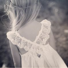 Stunning flower girl dress inspiration for a rustic wedding, just gorgeous! Find more wedding inspiration #fromthomas – on Pinterest and http://instagram.com/thomasjewellers/ #thomasjewellers #ilovethomas