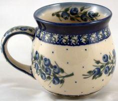 Twins Polish Pottery round mug