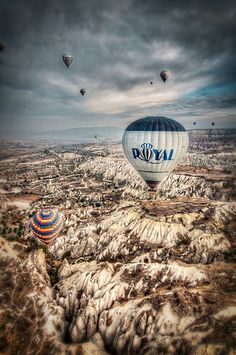 A hot air balloon ride over the fairy chimneys of Cappadocia >>>Put it on your bucket list! >> Oh, it's on my list for sure!