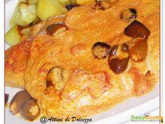 BRACIOLE DI MAIALE ALLA PANNA E POMODORO  #ricette #food #recipes