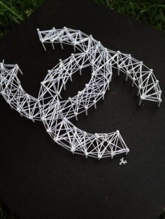 """Chanel """"CC"""" logo String and Nail Art. www.wearlex.com"""