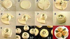 Cvijet kiflice - sasvim drukčiji oblik slanih ili slatkih kiflica