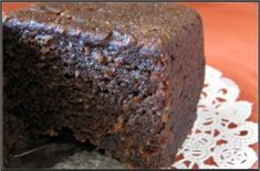 Guyanese Black Cake which is a fruity rum cake-traditionally served at weddings Christmas/New Years