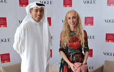 Vogue Fashion Dubai Experience:  Dubai's Sheik Mohamed Alabbar and Franca Sozzani of Vogue Italia