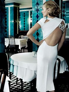 Kate Moss by Mario Testino for Vogue, December 2013