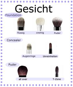 Make-up Pinsel Gesicht