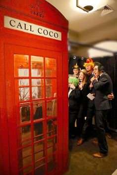 Red Phone Box Photo Booth #photobooth #photo #booth