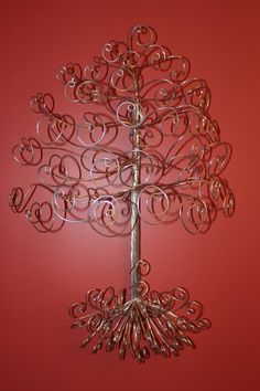 Wire Mall-Mount Jewelry Tree Display Necklace Earring Holder-Ready to Ship-LARGE SIZE $45