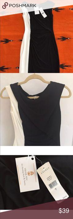 170ccbb9871c8 Ralph Lauren sheath dress black colorblock 2 LBD Women s color Block style  sheath dress by Ralph