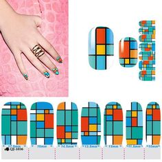1 Pc Fanciness Popular Hots Nail Art Sticker Adhesive Kits Fashion Decor Non-Toxic Manicure Model Style QJ