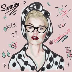 And our last honorable mention before we reveal the winners of our #sunniesART contest goes to this Hyperreal Marilyn wearing the Imogen by @fayeamante. #sunniesstudios | Sunnies Studios