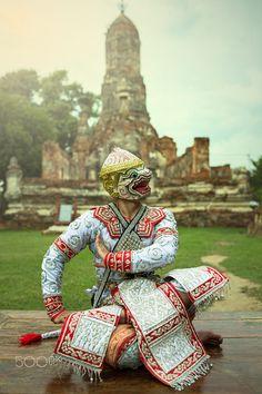 Khon dance, Thailand, Lord Hanuman Ramayana Story, Hanuman, Samurai, Literature, Lord, Dance, Character, Singapore, Malaysia