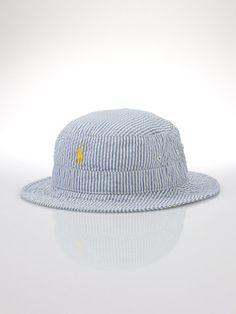 88b5c3fbc16 Polo Ralph Lauren Seersucker Bucket Hat  49.50